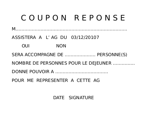 Coupon reponse ag 2016