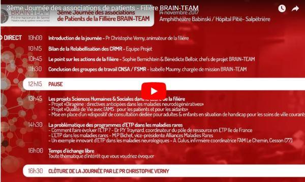 Compte Rendu et Vidéo de la 3ème journée des associations de la filière BRAIN TEAM